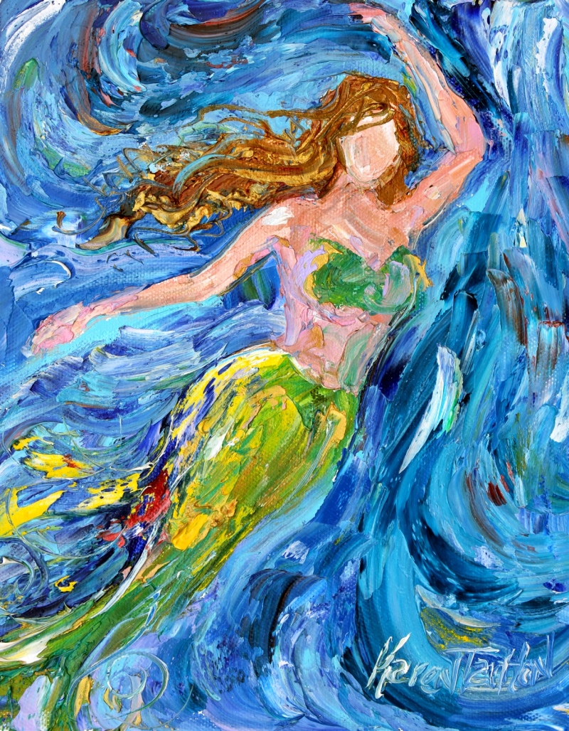 Karen Tarlton: Original oil paintings Angel and Mermaid ...