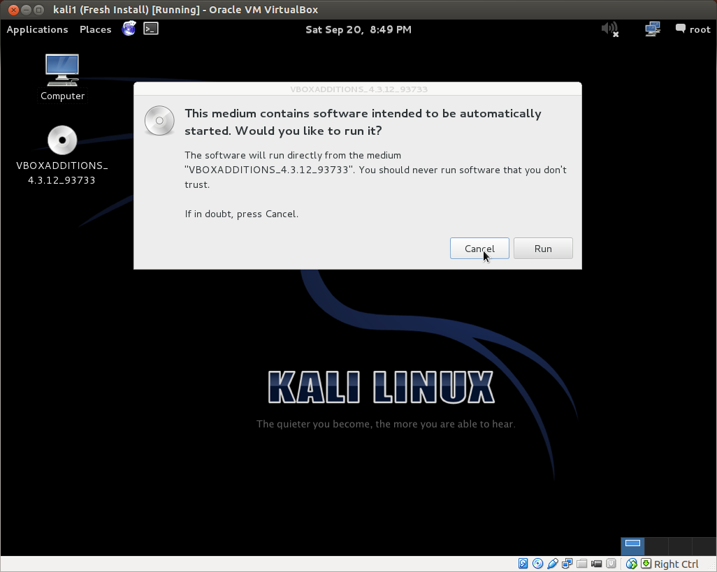 aGupieWare: Hack Lab Part 1: Installing a Kali Linux Virtual