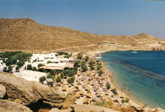 Paradise Beach på Mykonos