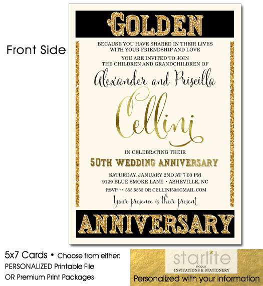 http://starliteprintables.indiemade.com/product/unique-elegant-50th-wedding-anniversary-invitation-golden-anniversary