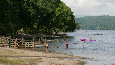 Summer on the shores of Coniston Water
