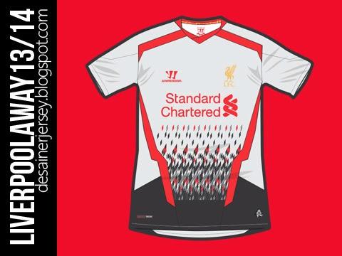 cbb4786dc -Liverpool 13 14 Warrior Away Shirt