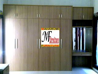 furniture kamar tidur lemari pakaian sekaligus meja hias - Jasa Pembuatan Setting Interior Furniture