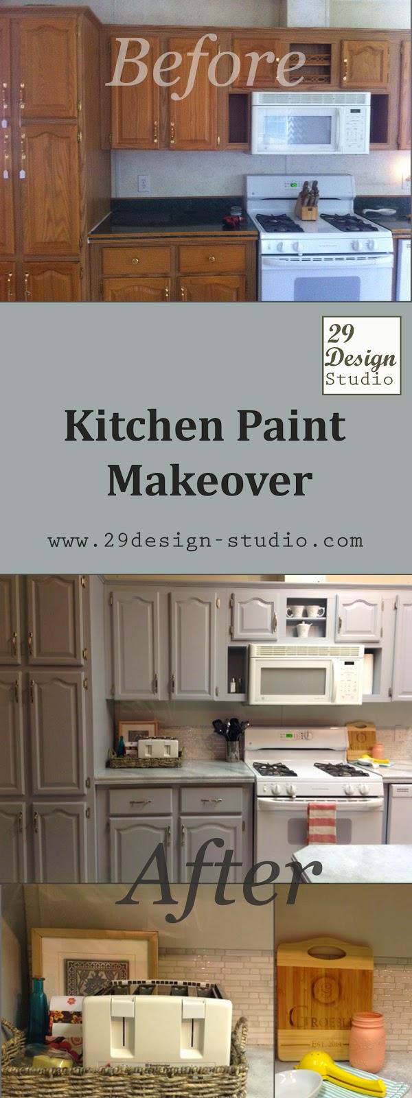 29 Design Studio: Blue-Gray Kitchen makeover
