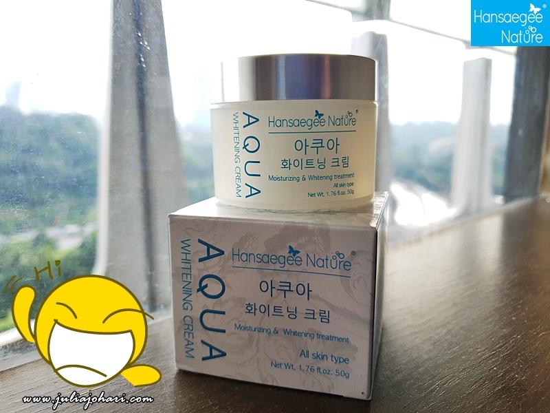 Hansaegee Nature Aqua Whitening Cream Pelembab Kaya Air dari Korea