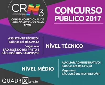 Concurso CRN 3ª regiao SP 2017