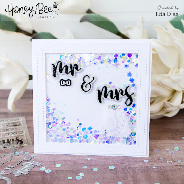 Mr and Mrs Shaker Card for Honey Bee Stamps Spring Release Blog Hop - Day 2 by Ilovedoingallthingscrafty