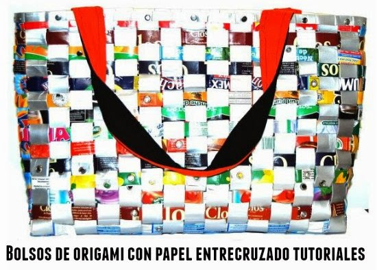 Como hacer Bolsos de Papel Cruzado Origami
