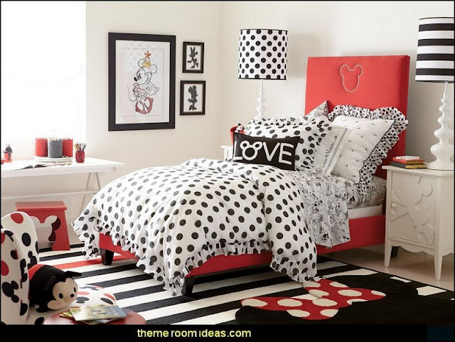 Mickey Mouse bedroom ideas - Minnie Mouse bedroom decorating - Mickey Mouse bedding - Minnie Mouse Bedding - Mickey Mouse wall decals - Mickey Mouse Comforters - Disney bedding - Disney home decor - Mickey & Friends - Mickey Mouse furniture