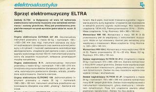 """Widok artykułu """"Sprzęt elektromuzyczny ELTRA"""""""