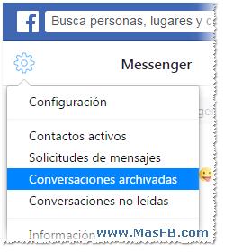 Conversaciones Archivadas en Facebook - MasFB