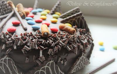 sponge cake torta di compleanno al cioccolato