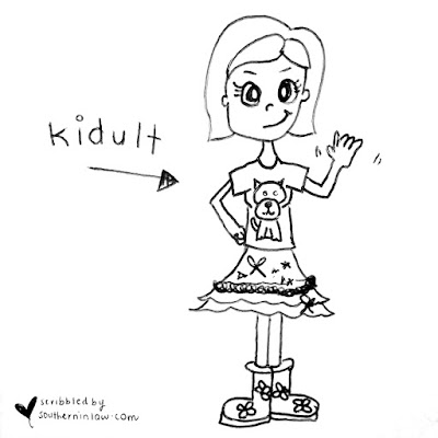 Kidult cartoon