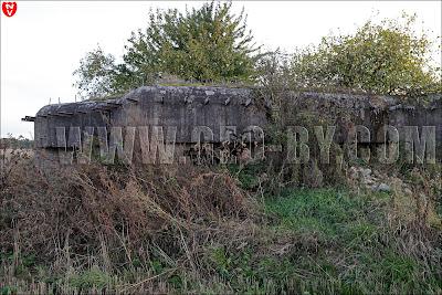 Первый найденный ДОТ у Кудиновичей. Орудийно-пулемётный полукапонир