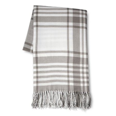 grey plaid throw blanket Target