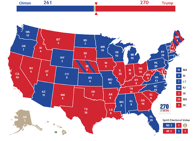 Hillary Clinton Donald Trump electoral college projection Splatoon Summer Splatdown map Nintendo