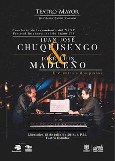POSTER Juan José Chuquisengo y José Luis Madueño en Bogotá