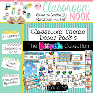 Printable beach decor for a beach theme classroom