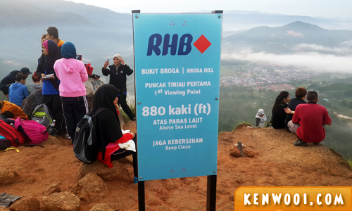 broga hill viewing point
