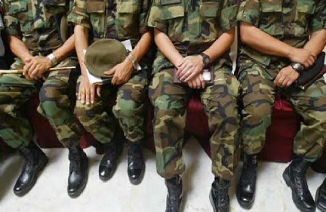 Al menos 38 militares fueron detenidos en una semana por supuesta traición a la patria