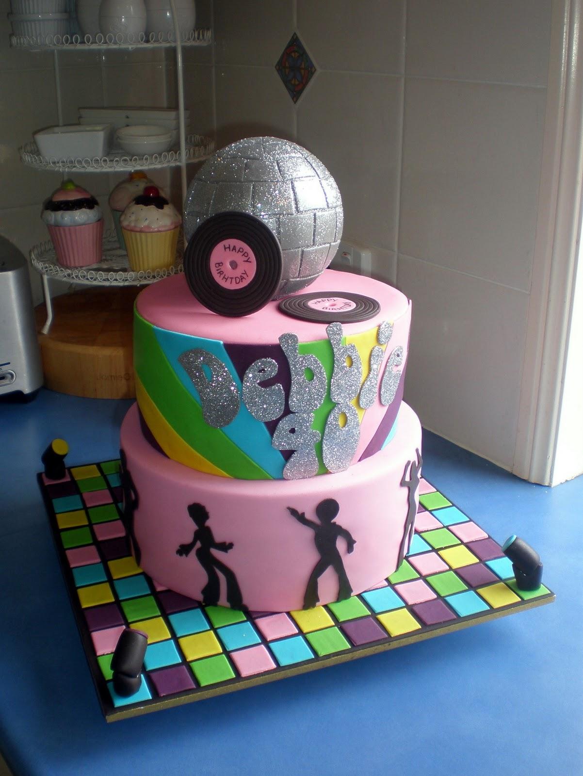 Sugar Siren Cakes Mackay: 70's Disco Birthday Cake