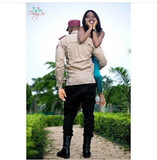 frsc officer and his fiancee's pre-wedding photoshoot