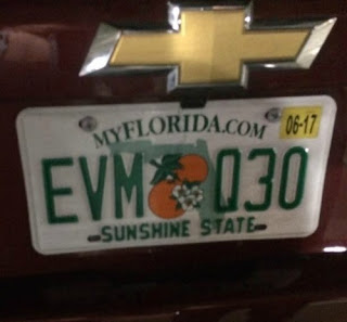 Four Go To Florida #1 Getting There - Avis Orlando Florida Number Plates