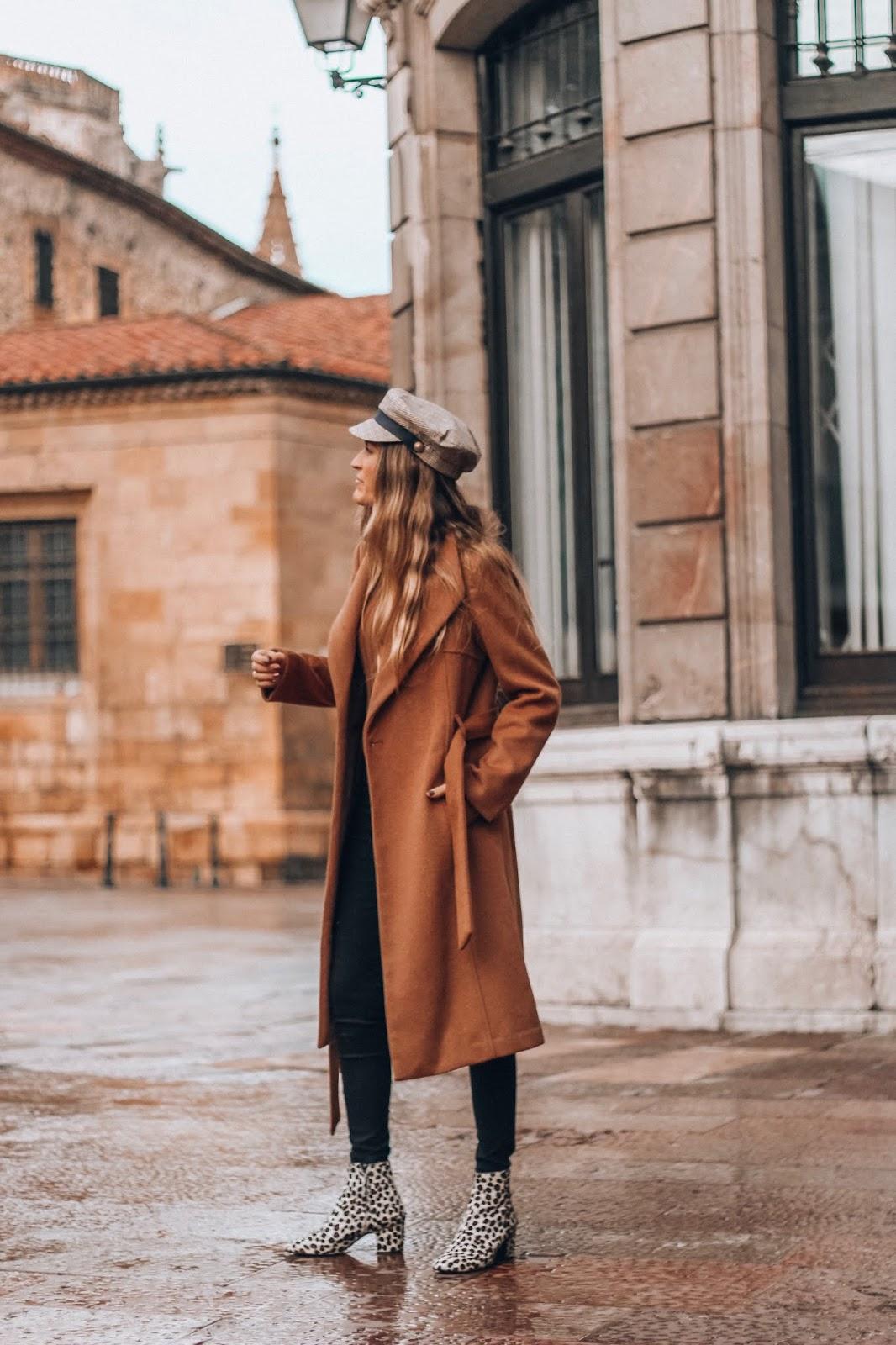 abrigo camel tipo batin