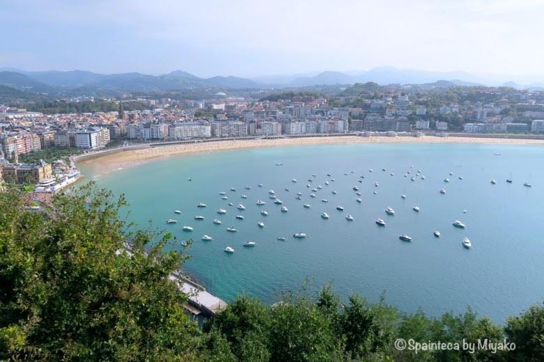 展望台からみるサン·セバスティアンの美しい海 La Concha, Donostia-San Sebastián