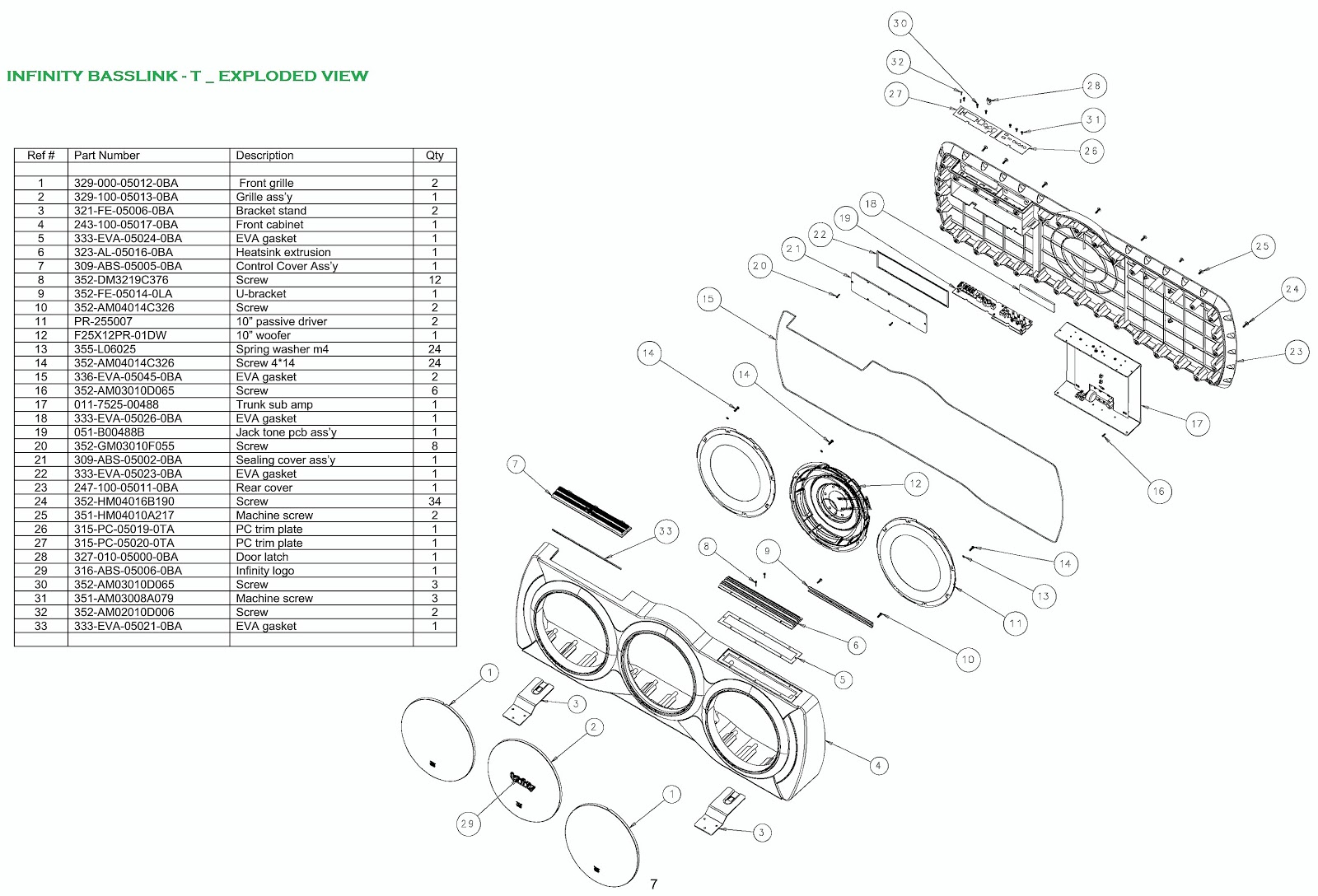 Infinity Basslink T 250watts Powered Sub Woofer System Wiring Diagram Circuit Diagram