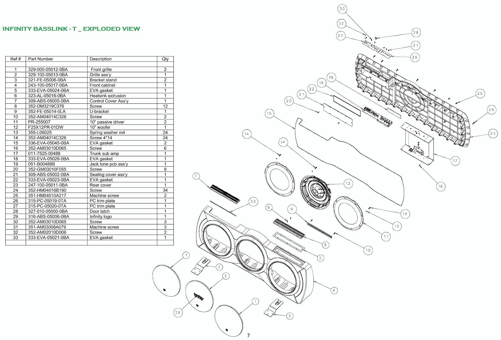 infinity car speaker wiring diagram