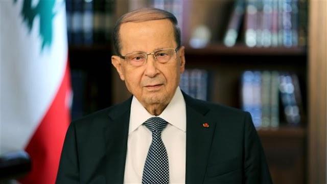 Lebanese President Michel Aoun warns Arabs against pushing Lebanon towards fire