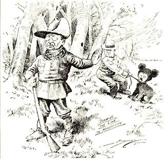 Theodore Roosevelt rehusando abatir al pobre osito.