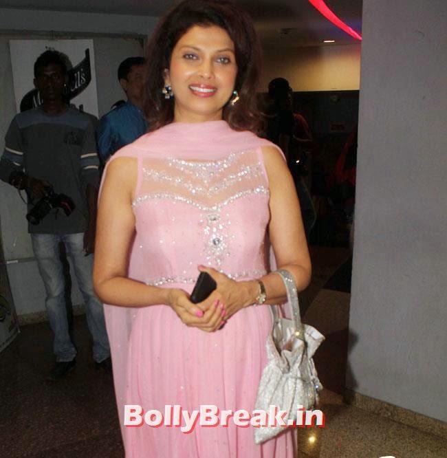 Varsha Usgaonkar, Varsha Usgaonkar, Neha Pendse at Hu Tu Tu Marathi Film Premiere