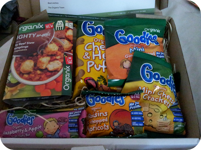 organix goodies, organix selection box, toddler snacks