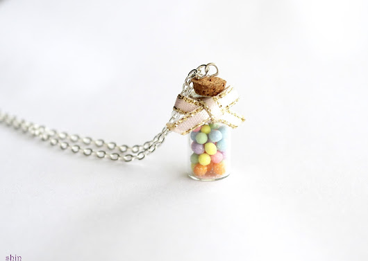 SHIN Handmade Jewelry: Pastel Candy Necklace