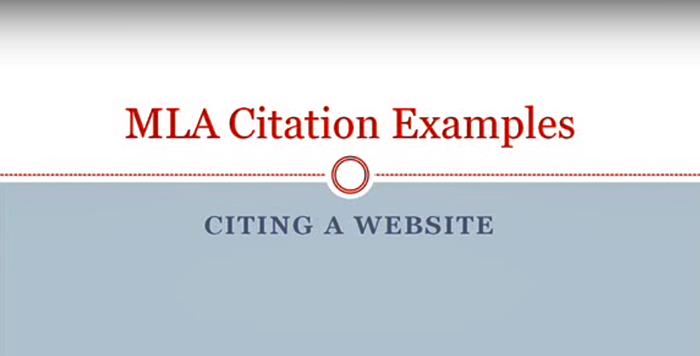 How to Cite a Website MLA