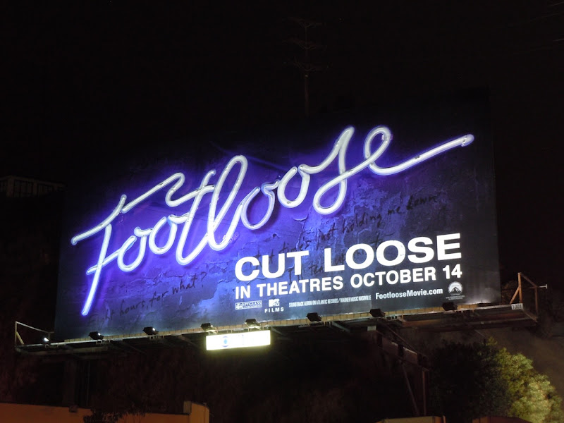 Footloose neon sign billboard