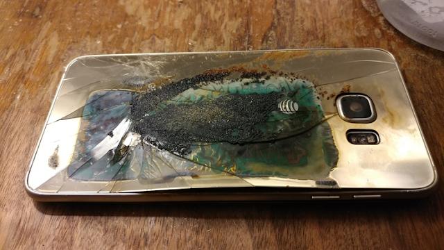 Samsung Galaxy S6 edge Smartphone Explodes