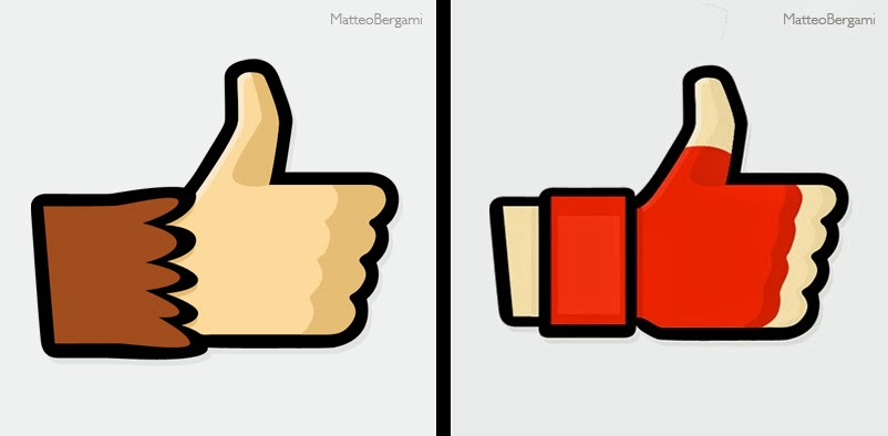 05-DonkeyKong-&-Ryu-Matteo-Bergami-Facebook-Hand-Thumbs-Up-Art-www-designstack-co
