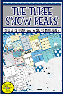 The Three Snow Bears by Jan Brett is a classic story and is one of the featured books in this fun blog post using a bear theme. Check it out for fun free resources, book tips, and activities.