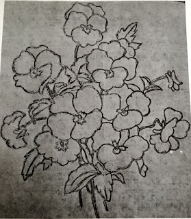 Stencil for pansy embroidery craftrebella