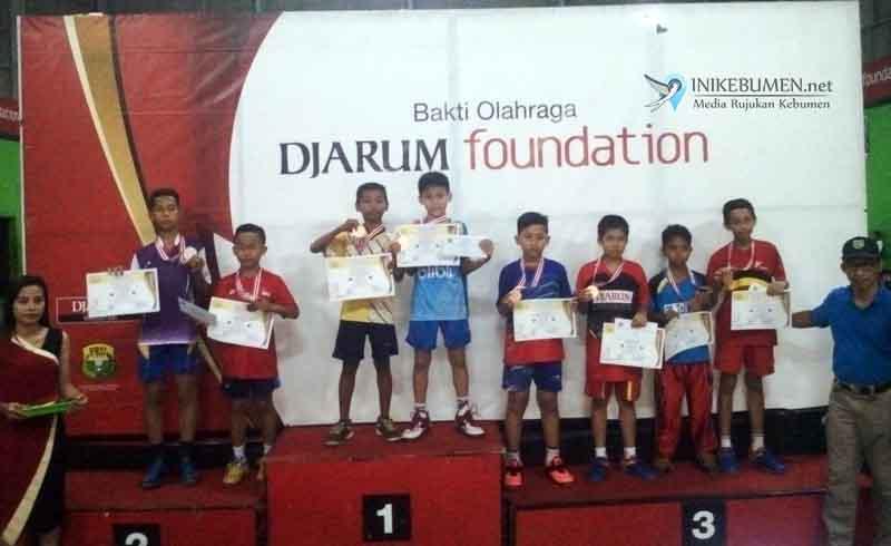 Berikut Perolehan Medali pada Kejurkab Bulutangkis Walet Cup 2017