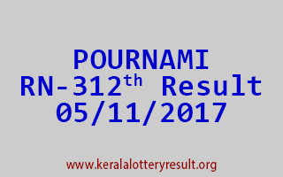 POURNAMI Lottery RN 312 Results 5-11-2017