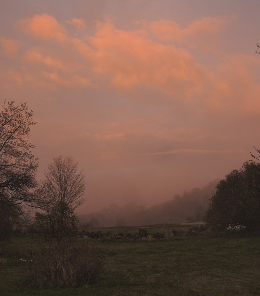 studio and garden the magic of sunset and mists