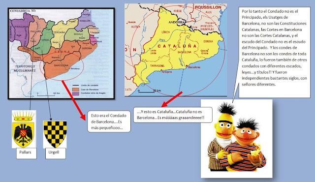 Epi y Blas expliquen la diferénsia entre lo Condat de Barselona y lo Prinsipat de Cataluña