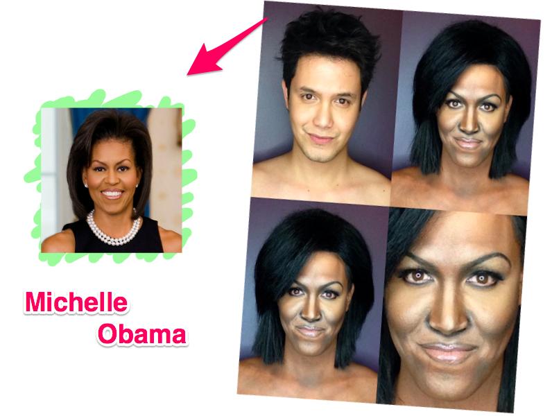 Maquiador se transforma em Michelle Obama
