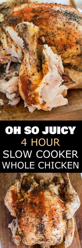 4 HOUR Juicy Slow Cooker Whole Chicken