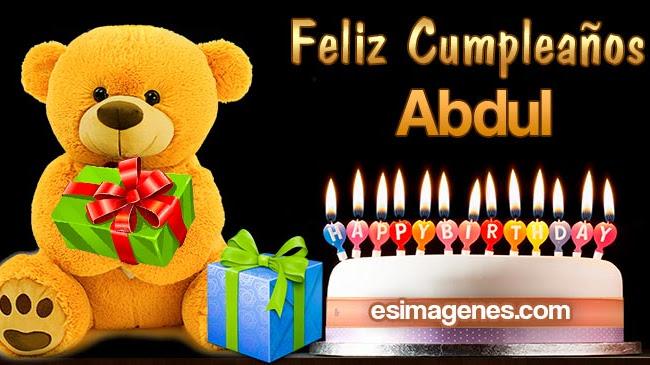Feliz cumpleaños Abdul