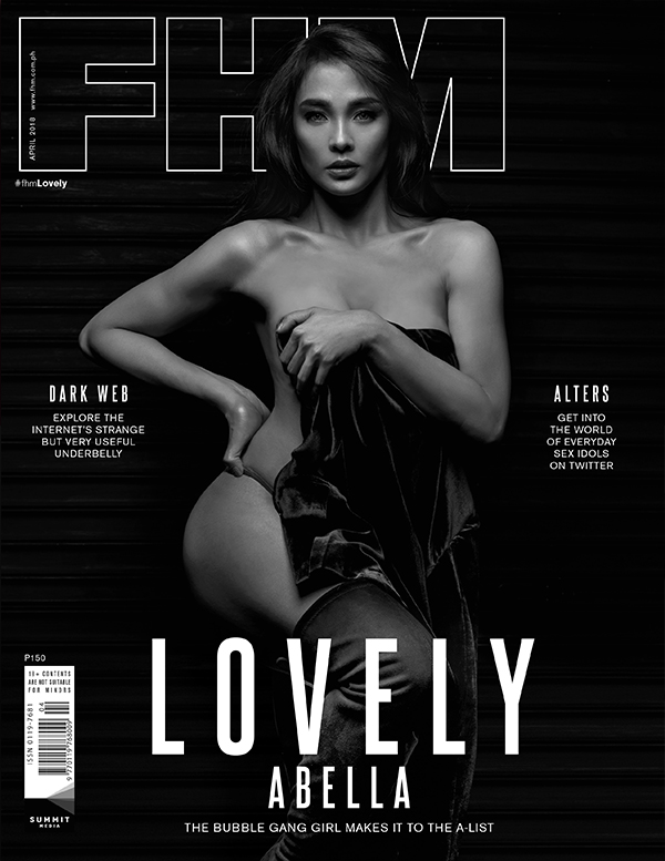 Black & White Photography: Lovely Abella on the cover of FHM's April 2018 issue